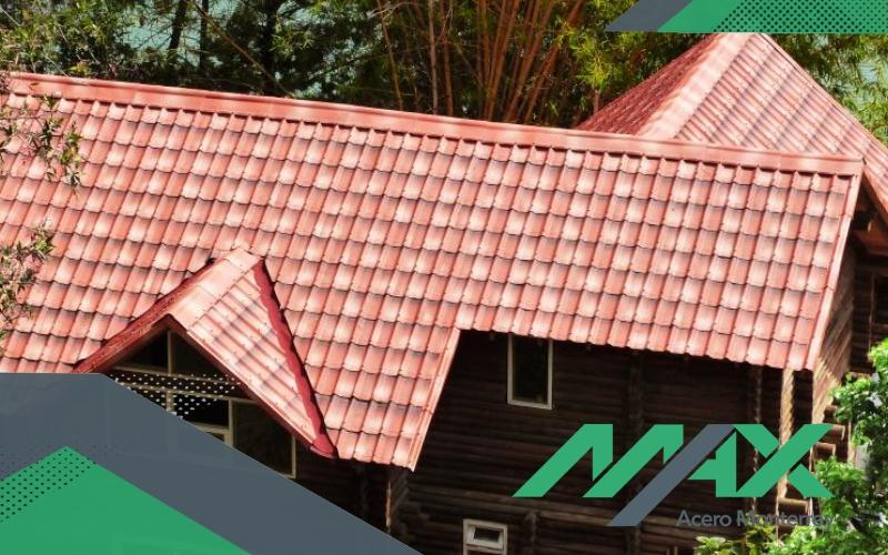 La lámina de acero tipo teja lleva por nombre Galvateja es una alternativa para techo con un acanalado diferente. EnvÍos a todo México.